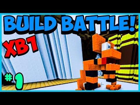 Minecraft Xbox One BETA - BUILD BATTLE - #1