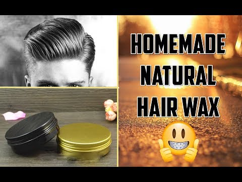 How to make Hair Wax at home in 5 mins ★Natural Hair Wax ★TheRealMenShow★