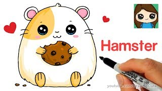 How to Draw a Hamster Super Easy