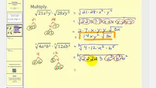Multiplying Radicals Containing Variables