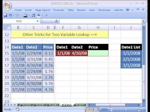 Excel Magic Trick #225: 2 Way Lookup With Duplicates