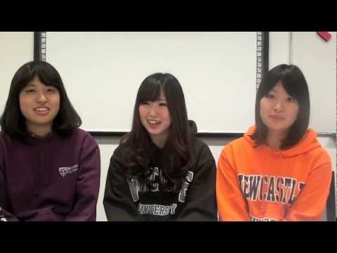 INTO Newcastle University - Student Interview (Japanese) English Students