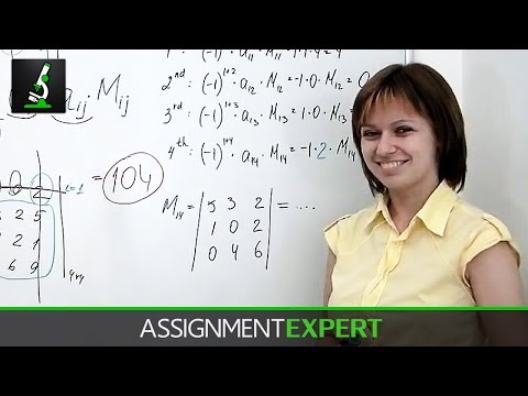 Calculating Determinants p. 2 (2X2, 3X3 and 4X4)