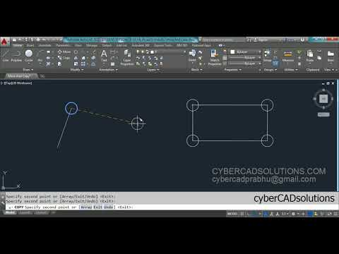 How to Move And How to Copy Objects in AutoCAD