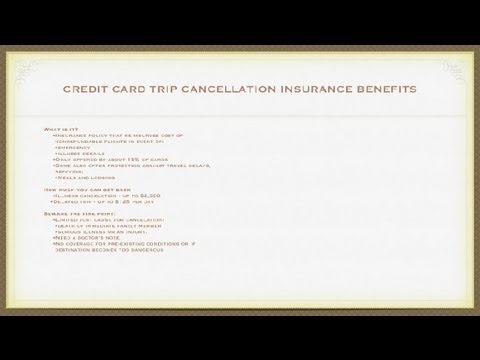 Credit Card Trip Cancellation Insurance Benefits : Insurance, Loans & More
