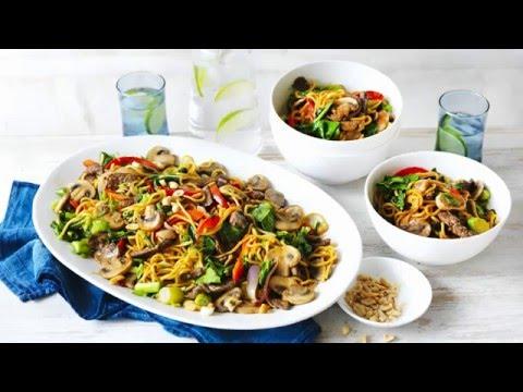 Mushroom Noodle Stirfry