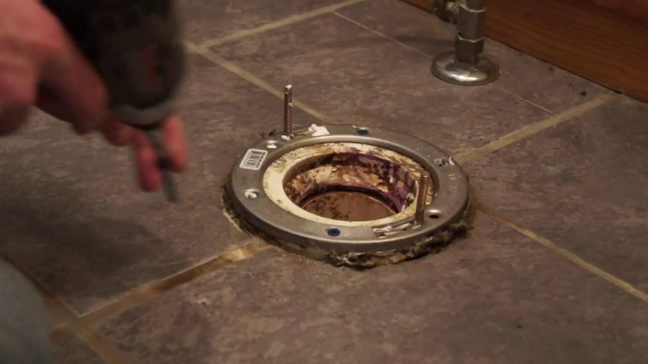 Easy Way To Fix a Broken Toilet Flange ✅