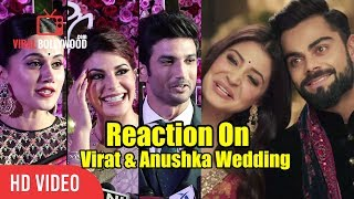 Bollywood Reaction On Virat And Anushka Marriage Crazy Reactions
