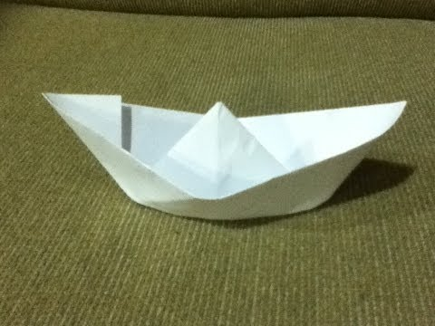 How to Make a Paper Boat - Origami - Simple Instructions & Easy Folds - Step by Step Instructions