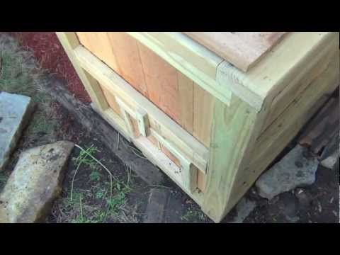How to make a wooden compost bin