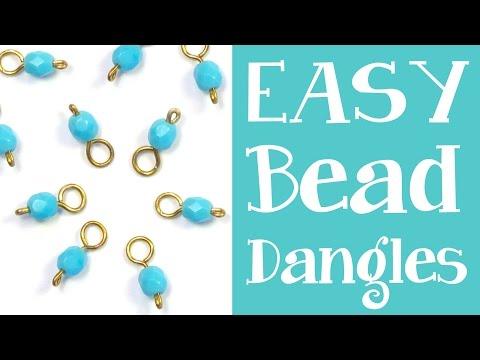 How to Make Bead Dangles - Simple headpin + beaded dangle tutorial