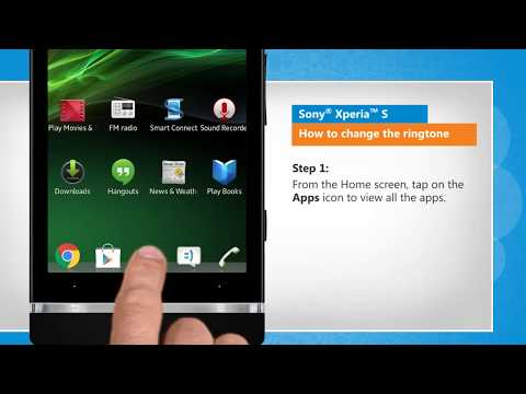 How to change the ringtone in Sony® Xperia™ S by iYogi
