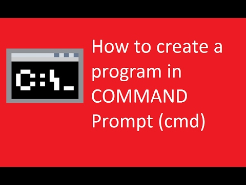 How To Make A Program In Command Prompt Part 1