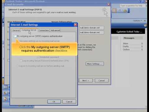Adding email accounts in Outlook 2003