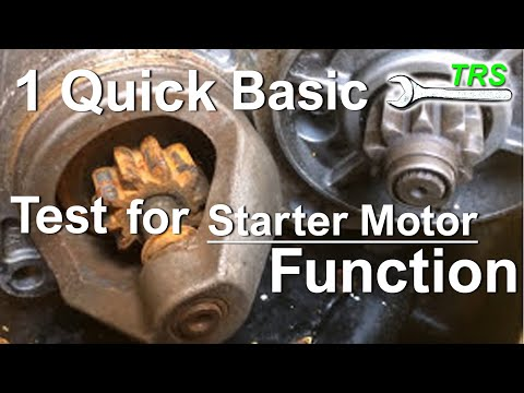 1 Simple Test for Correct Starter Motor Function/Quick Tip