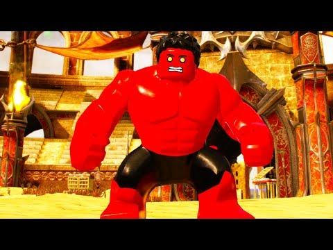 LEGO Marvel Super Heroes 2 Red Hulk Boss Battle Unlock and Free Roam Gameplay