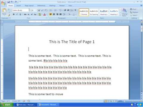 Word 2007 Tutorial 2 - Formatting Text