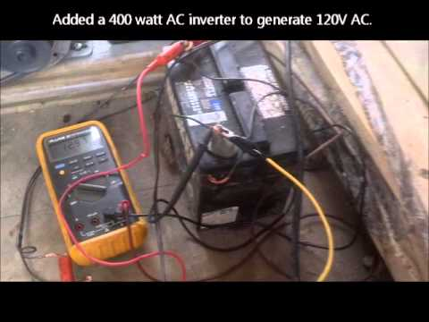 Water Wheel Electrical Generation pt2