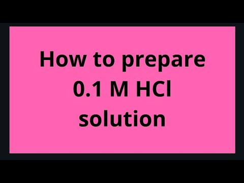 How to prepare 0 1 Molar HCl solution