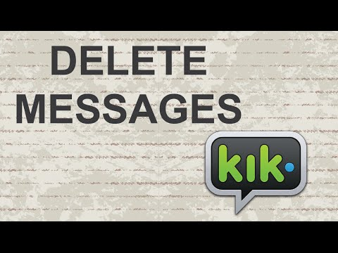 How to delete messages on KIK (Conversation)