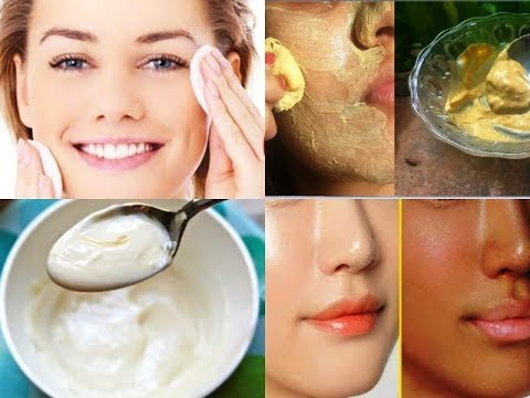 Do this for 10 minutes before going to bed & change your skin complexion overnight, yogurt face mask