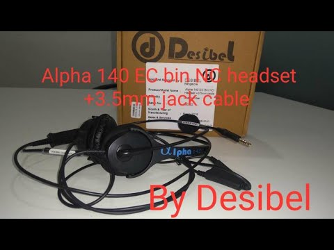 Unboxing of Desibel headset Alpha 140 EC bin NC headset +3.5mm jack  cable