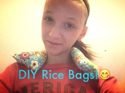DIY Heat Pads/Rice Bags/Rice Pillows