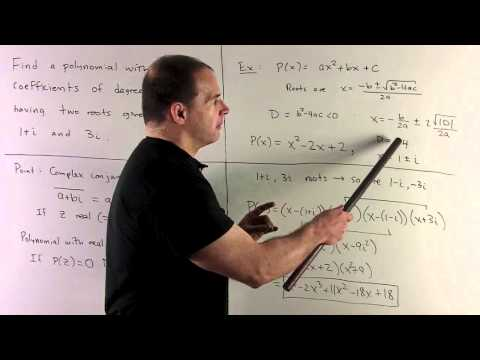 Complex Conjugate Roots of a Real Polynomial