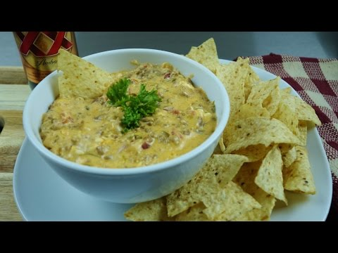 Crock Pot Slow Cooker Spicy Cheese Dip Recipe | Appetizer Dump Recipe | August Cooking