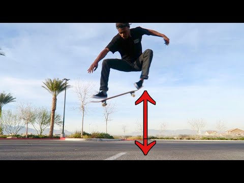 HOW TO OLLIE A LOT HIGHER!