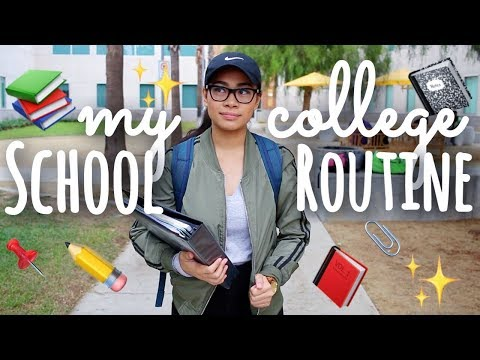 My School (College) Routine 2017! | SimplyMaci