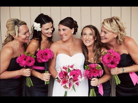 Pink Gerbera Daisy Wedding Bouquet