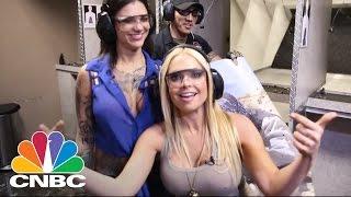 Porn Stars Shoot Guns In Vegas , CNBC