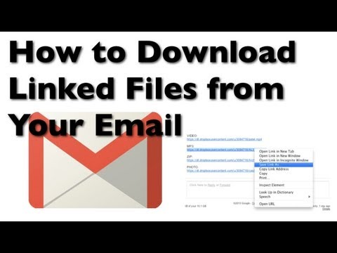 How to Download Text Linked Files from Your Email