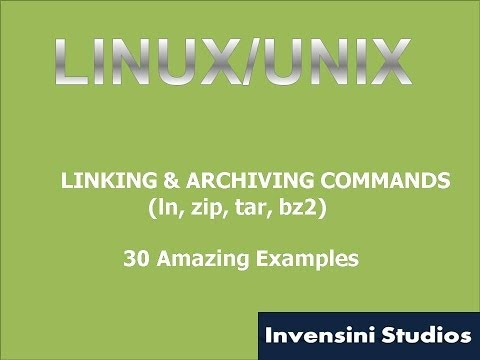 Linux Basic Linking, Archiving & Compression Commands