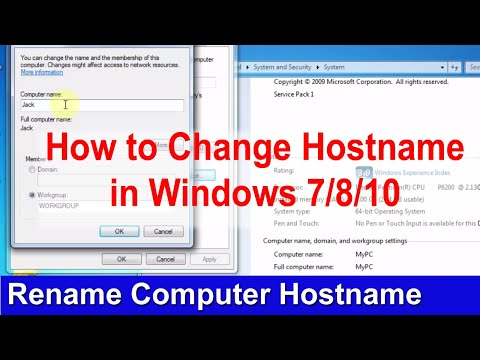 How to change hostname or Computer Name