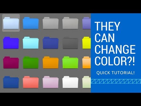 How to change the COLOR of a folder on MacOS Sierra