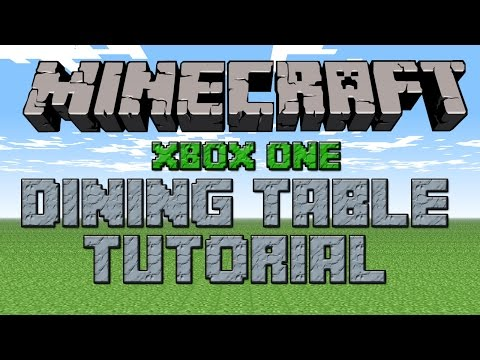 MINECRAFT XBOX ONE: How To Make A Dining Table