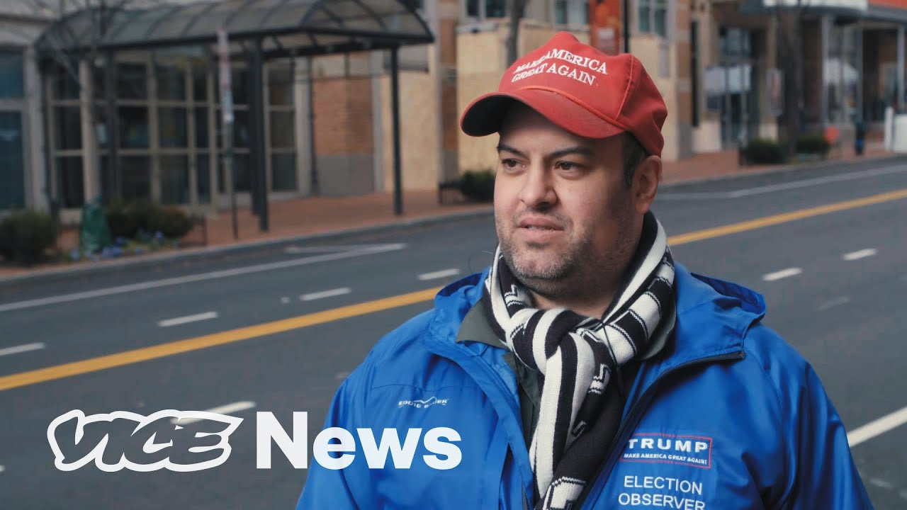 We Spoke to a Lone Trump Supporter at Biden's Inauguration