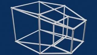 Diegodcvids - 4d Hypercube 超立方体 Animation