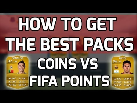 FIFA 14 Mythbusters - HOW TO GET THE BEST PLAYERS IN PACKS - Coins vs Fifa Points