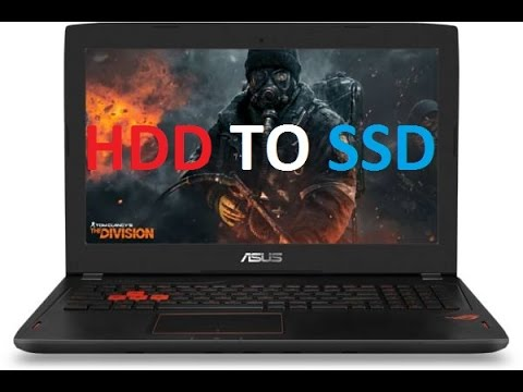 How to replace hard drive with SSD / Asus GL502