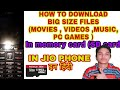 JIOPHONE   How to DOWNLOAD MOVIES, VIDEOS , MUSIC in SD card   इन हिंदी