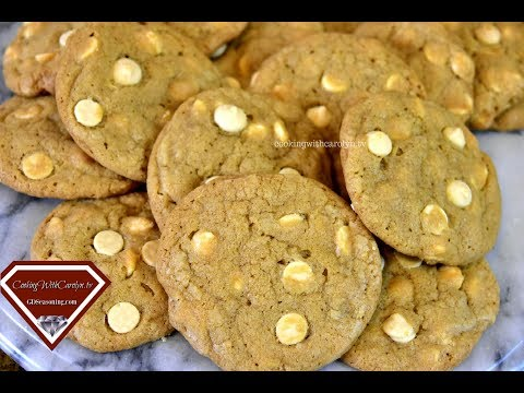 CHEWY WHITE CHOCOLATE CHIP COOKIES RECIPE |Cooking With Carolyn