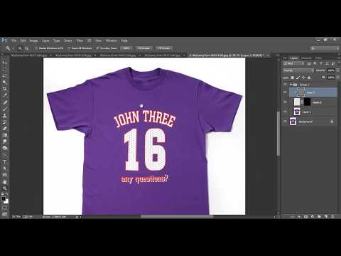 Photo Manipulation- Removing tag from t-shirt / Cloth - in image using Photoshop