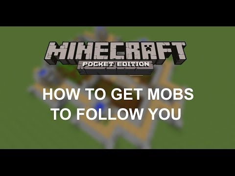 How To Get Mobs To Follow You In Minecraft PE