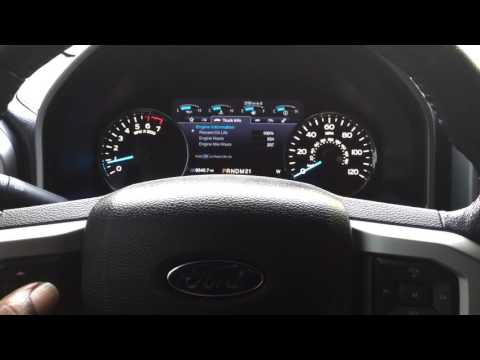 2015 Ford F-150 oil change reset
