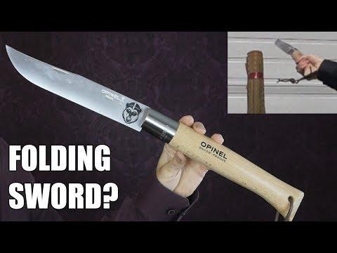 A HUGE Folding Knife - Can You Use it Like a Sword?