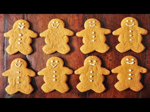 Gingerbread Men Recipe Demonstration - Joyofbaking.com