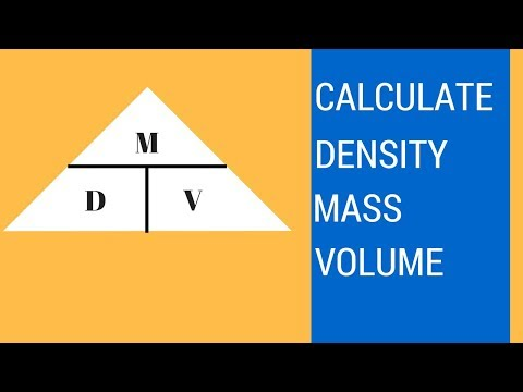 How to find density, mass, and volume